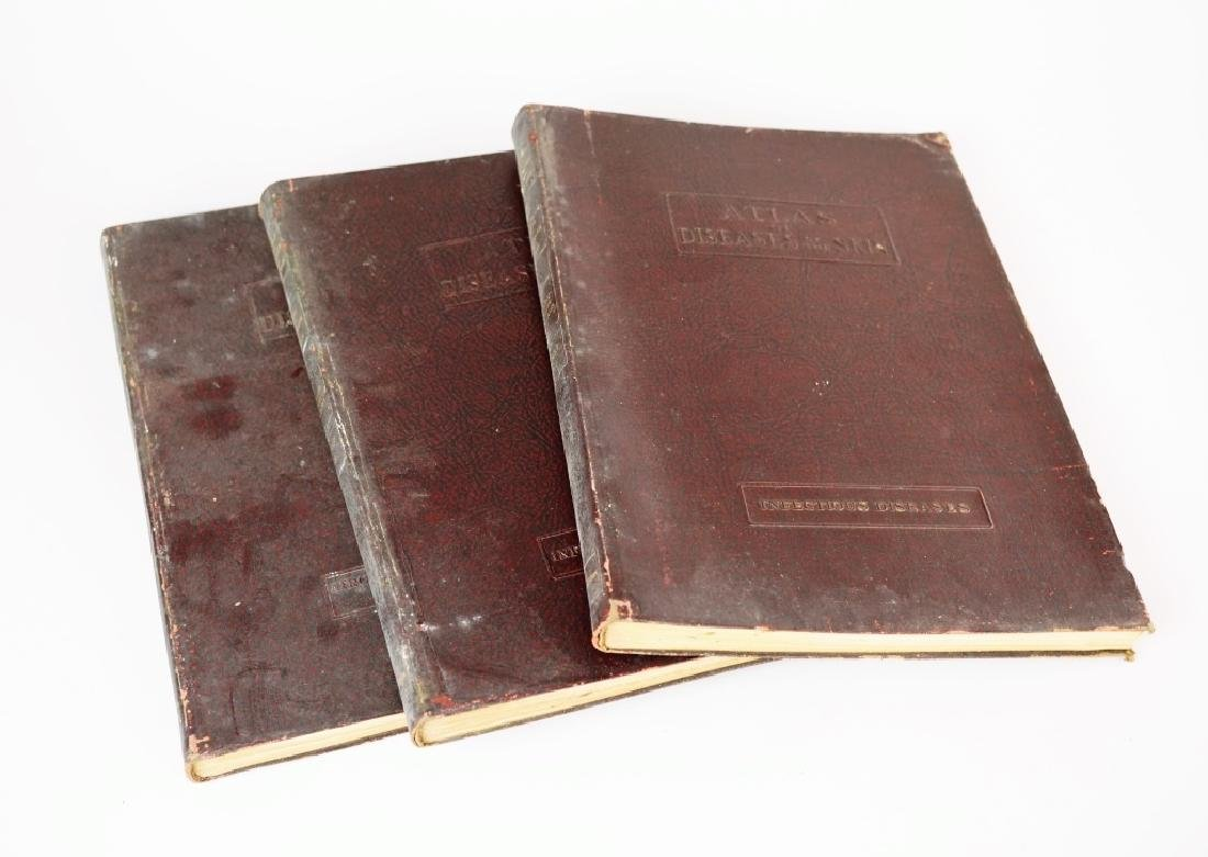 (3) 1925 ATLAS OF DISEASES OF THE SKIN BOOKS