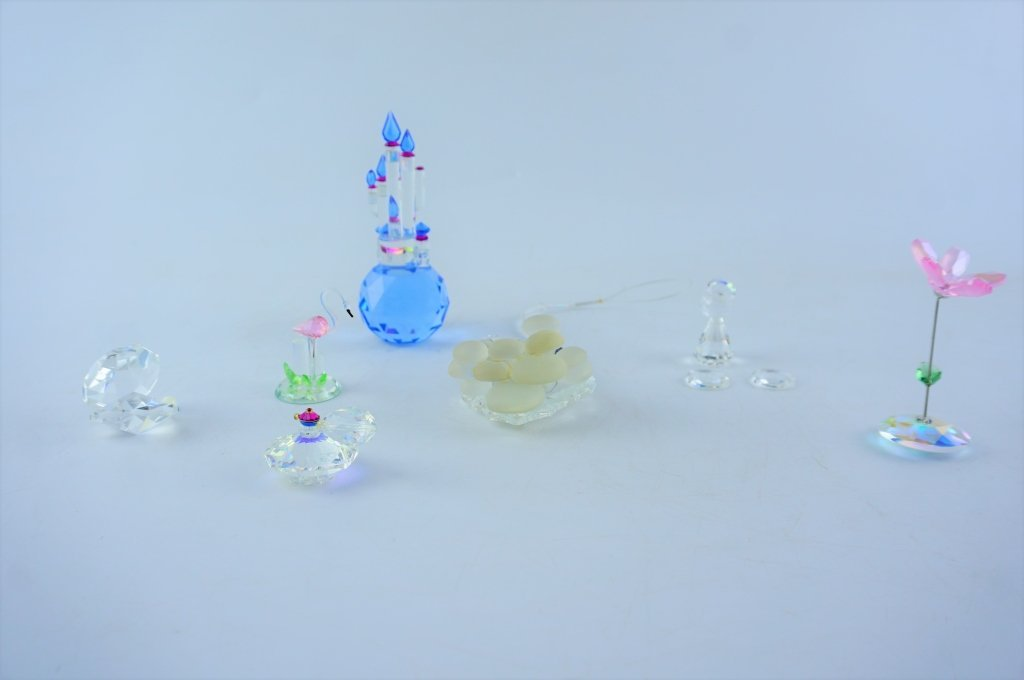 (7) ASSORTED CRYSTAL GLASS FIGURINES