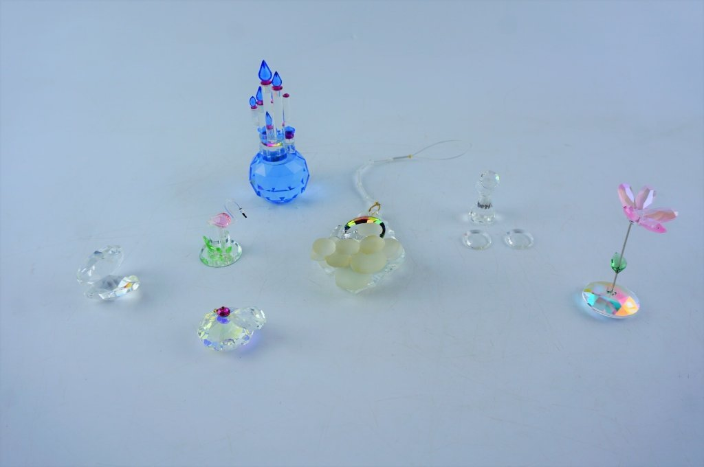 (7) ASSORTED CRYSTAL GLASS FIGURINES - 2