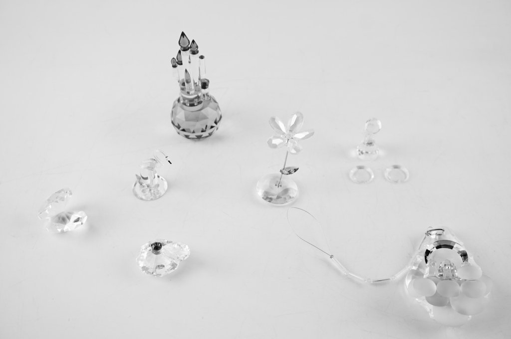 (7) ASSORTED CRYSTAL GLASS FIGURINES - 4