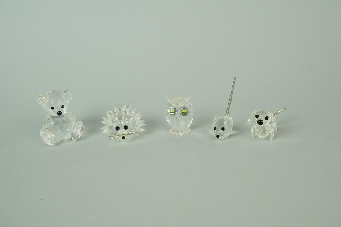 (5) SWAROVSKI CRYSTAL FIGURINES - 2