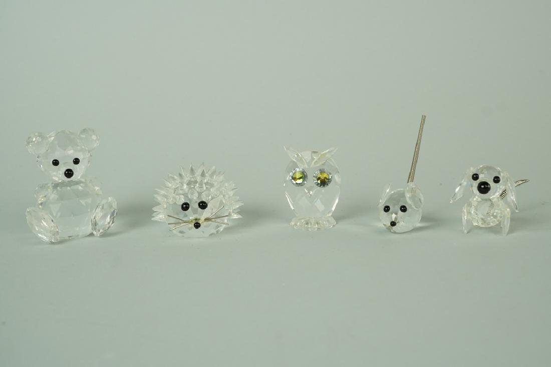 (5) SWAROVSKI CRYSTAL FIGURINES - 3