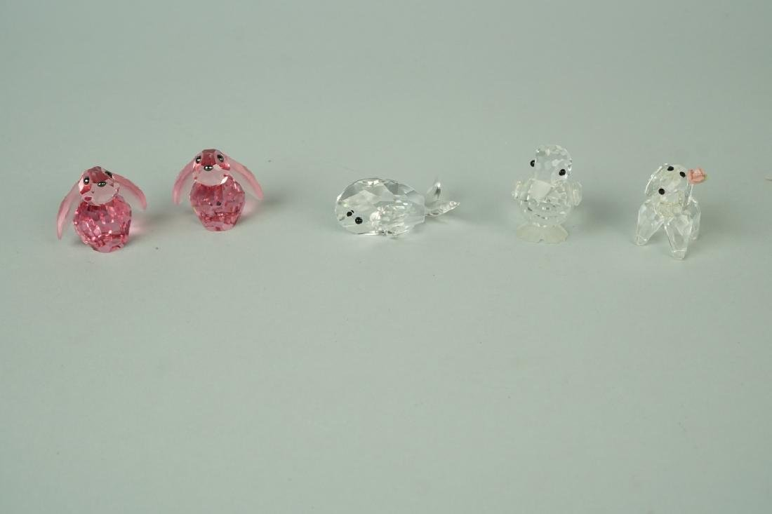 (5) CRYSTAL FIGURINES INCLUDING SWAROVSKI