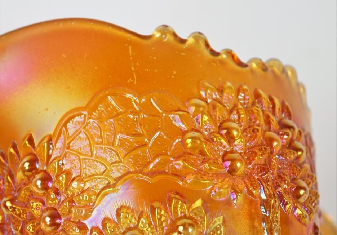 4pcs ASSORTED ORANGE CARNIVAL GLASS - 3