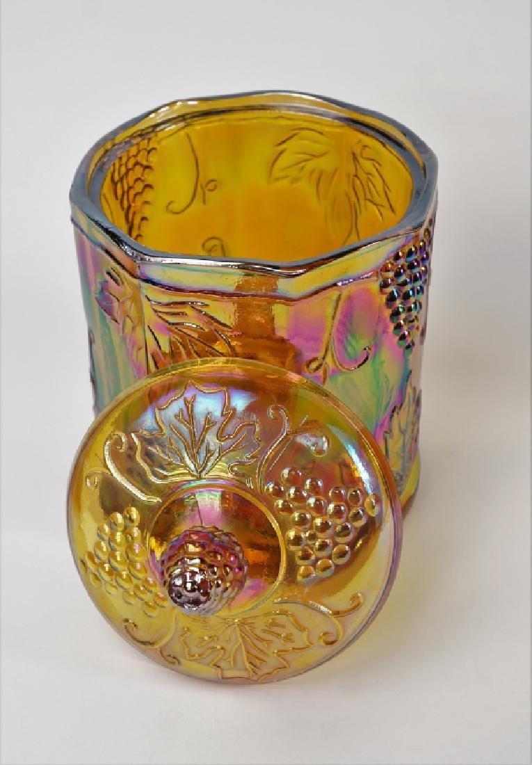 4pcs ASSORTED ORANGE CARNIVAL GLASS - 5
