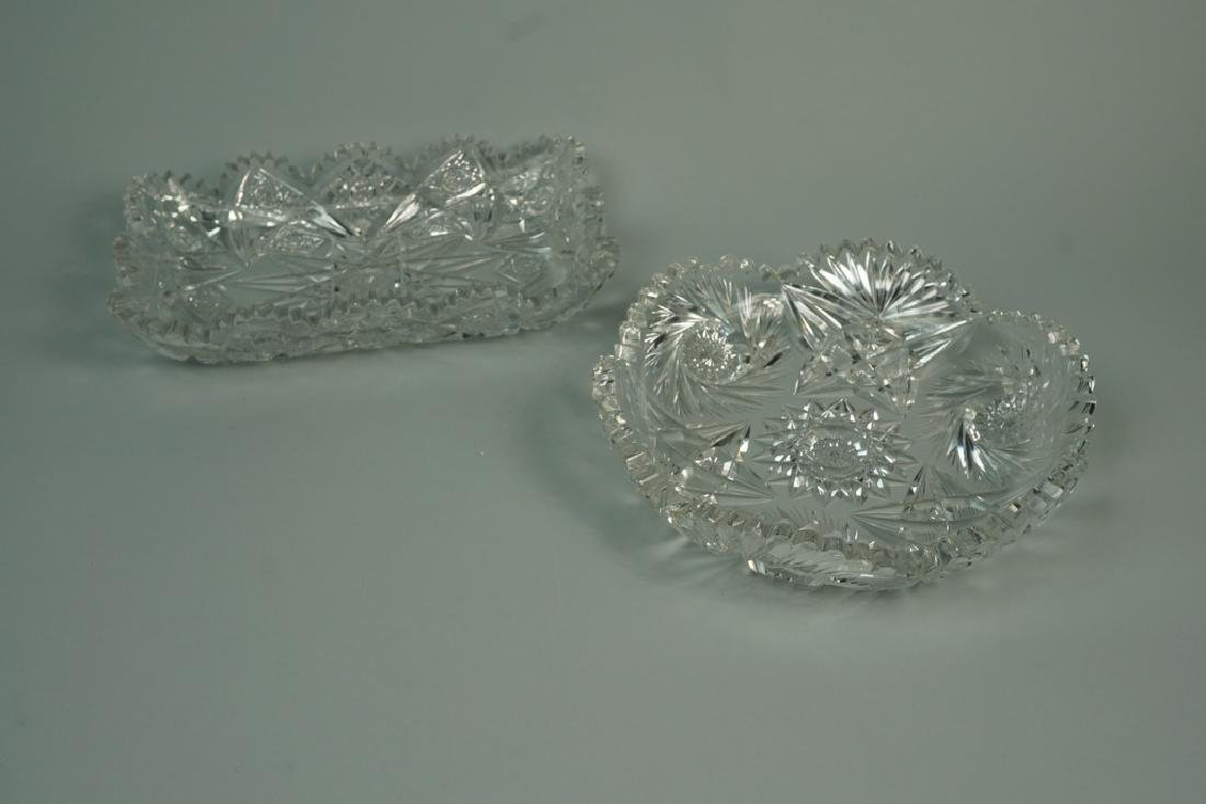 (2) ASSORTED CUT CRYSTAL DISHES
