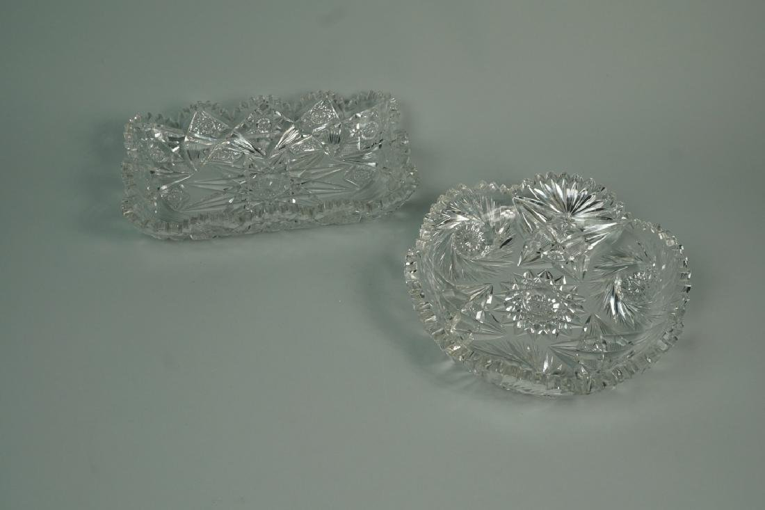 (2) ASSORTED CUT CRYSTAL DISHES - 2