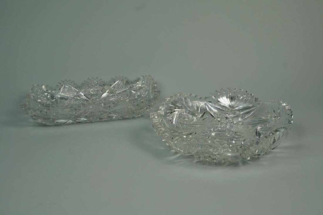 (2) ASSORTED CUT CRYSTAL DISHES - 3