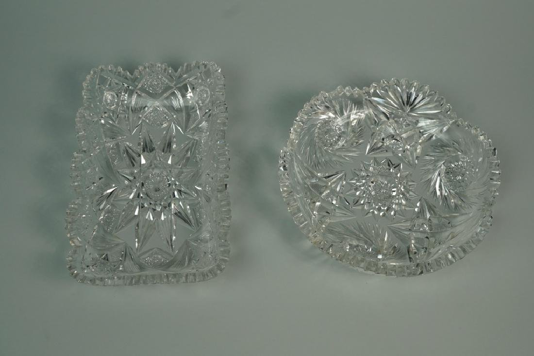 (2) ASSORTED CUT CRYSTAL DISHES - 4