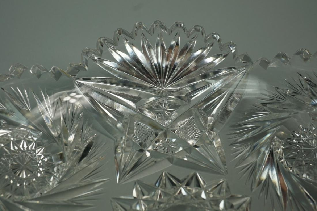(2) ASSORTED CUT CRYSTAL DISHES - 5