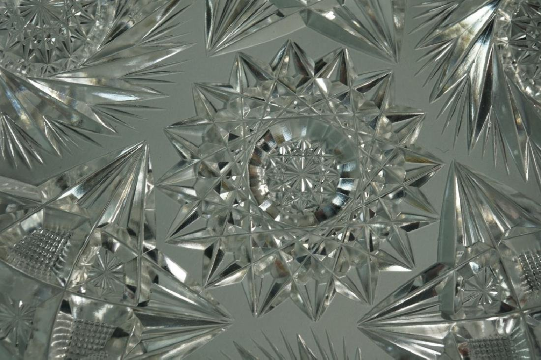 (2) ASSORTED CUT CRYSTAL DISHES - 6