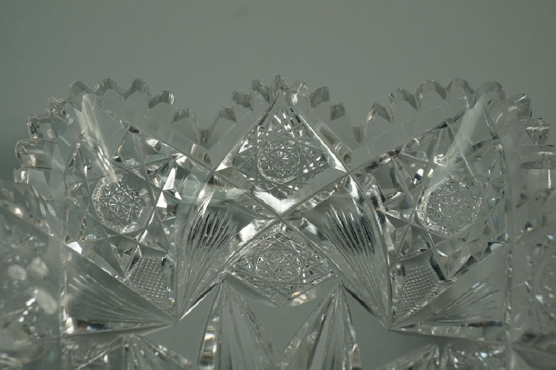 (2) ASSORTED CUT CRYSTAL DISHES - 7