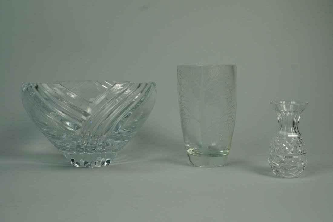 3pcs ASSORTED CUT AND ETCHED CRYSTAL