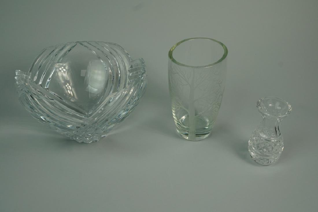 3pcs ASSORTED CUT AND ETCHED CRYSTAL - 2