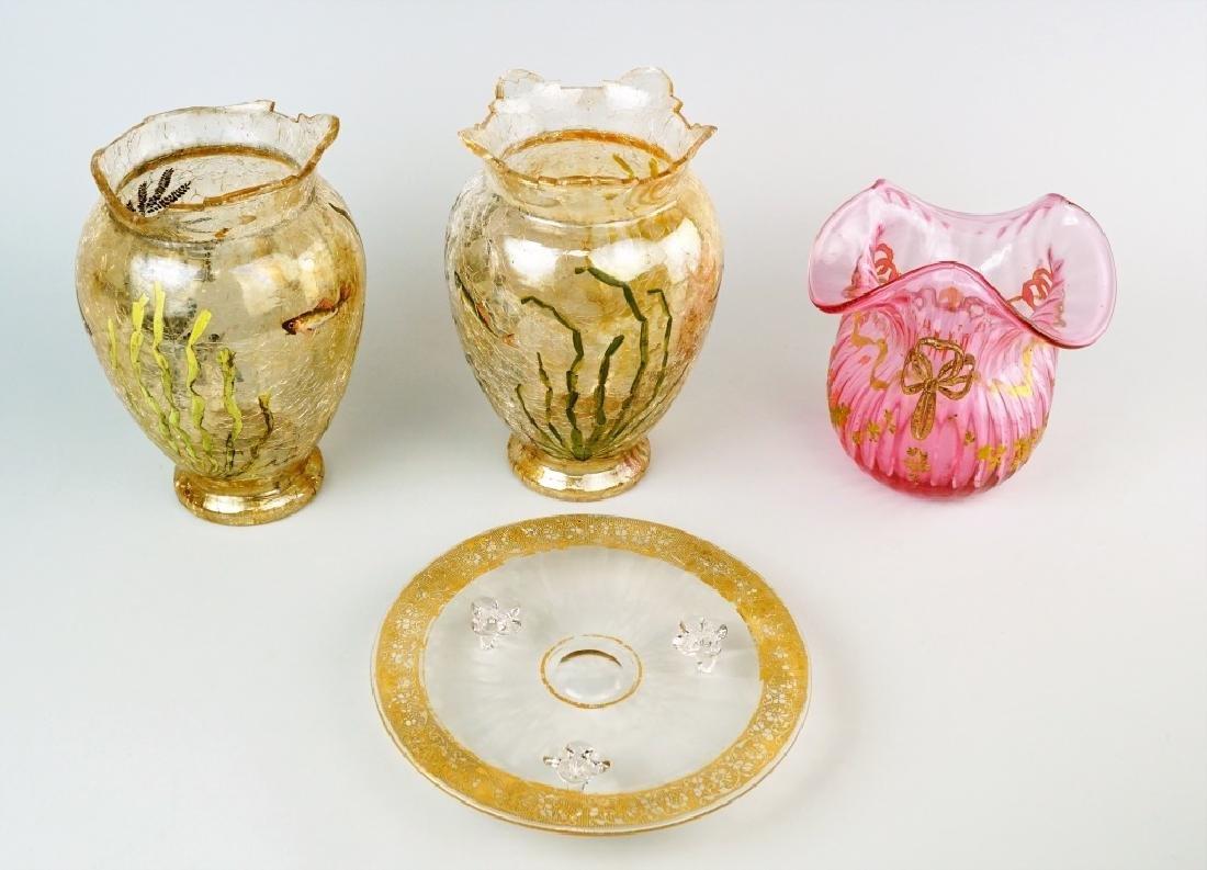 4pcs ASSORTED ART GLASS