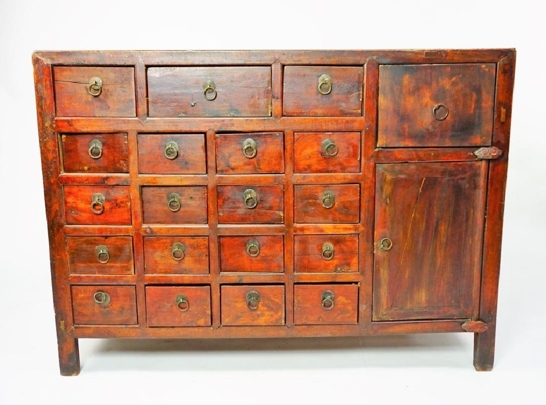 ANTIUQE 19 DRAWER APOTHECARY CABINET