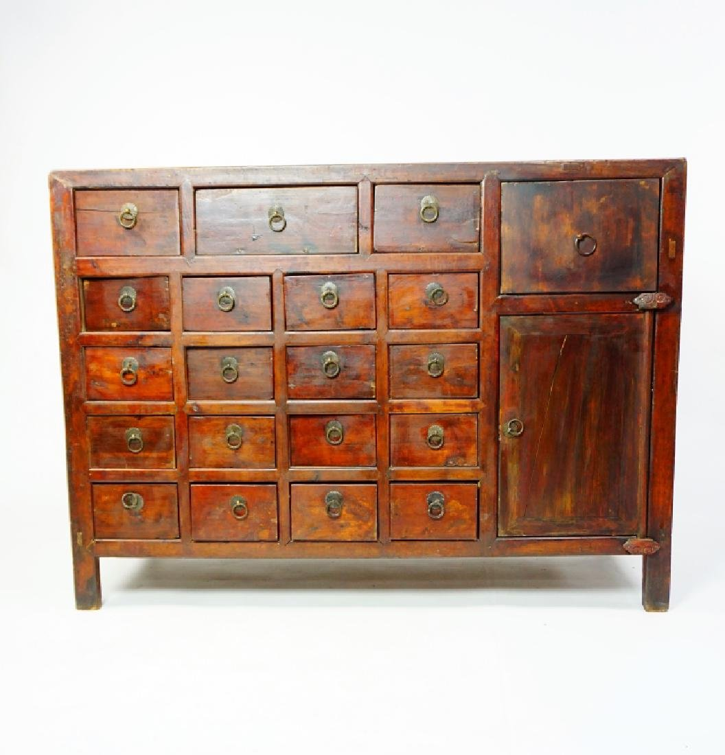 ANTIUQE 19 DRAWER APOTHECARY CABINET - 2