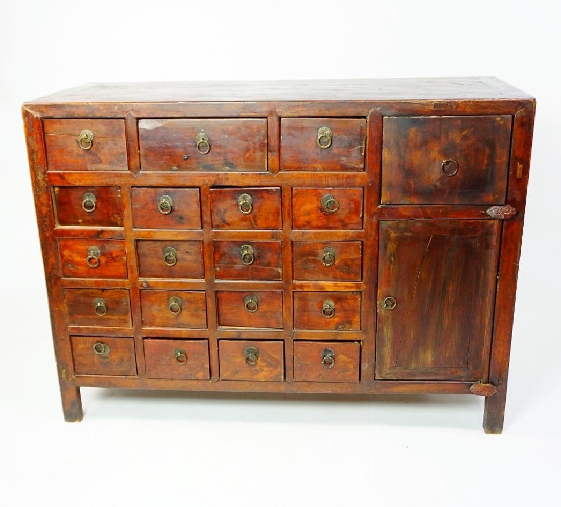 ANTIUQE 19 DRAWER APOTHECARY CABINET - 3