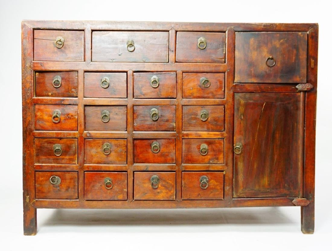 ANTIUQE 19 DRAWER APOTHECARY CABINET - 6
