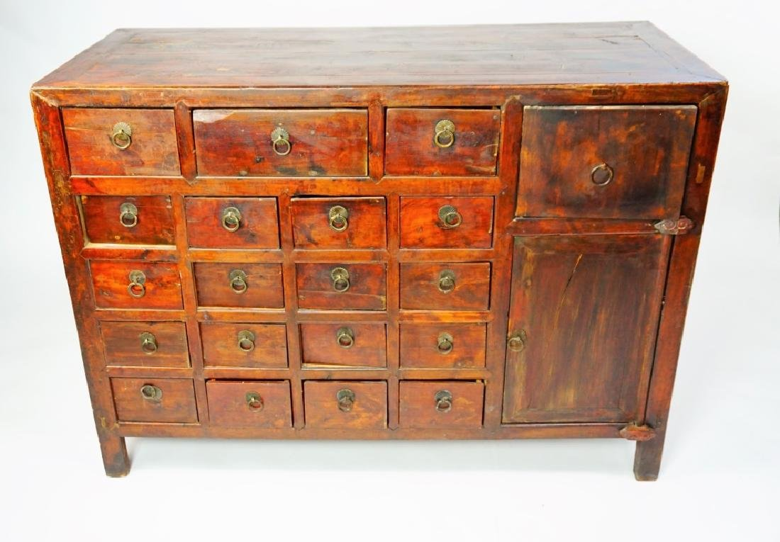 ANTIUQE 19 DRAWER APOTHECARY CABINET - 7