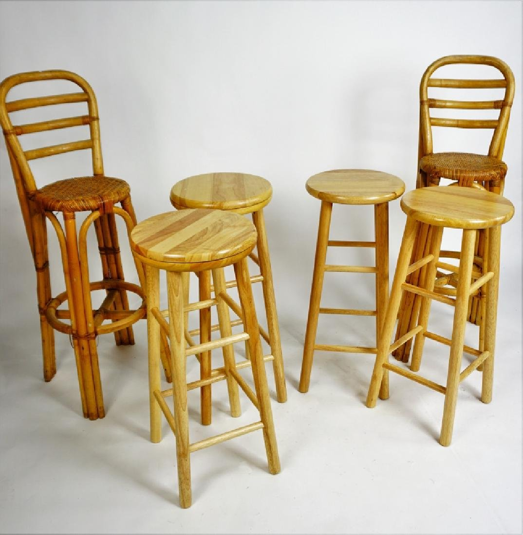 (6) ASSORTED BAR STOOLS
