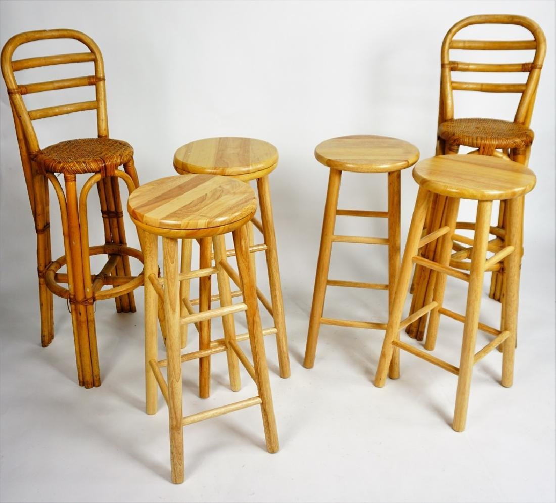 (6) ASSORTED BAR STOOLS - 4