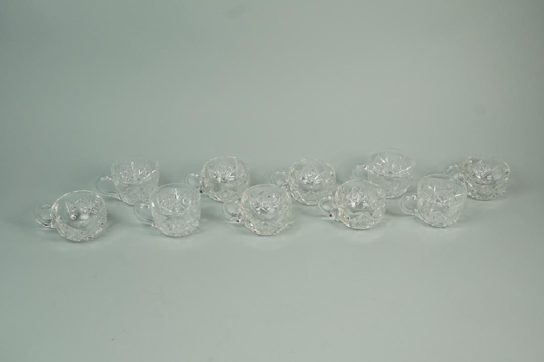 12pc CUT CRYSTAL PUNCH BOWL SET - 10