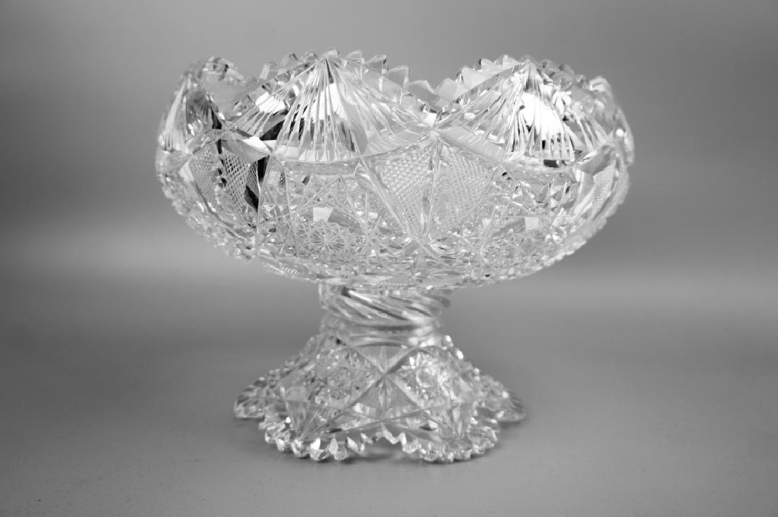 12pc CUT CRYSTAL PUNCH BOWL SET - 3