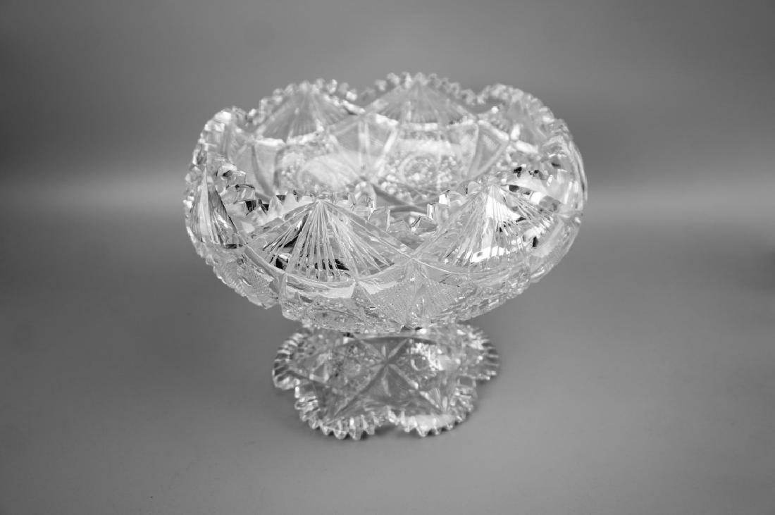 12pc CUT CRYSTAL PUNCH BOWL SET - 4