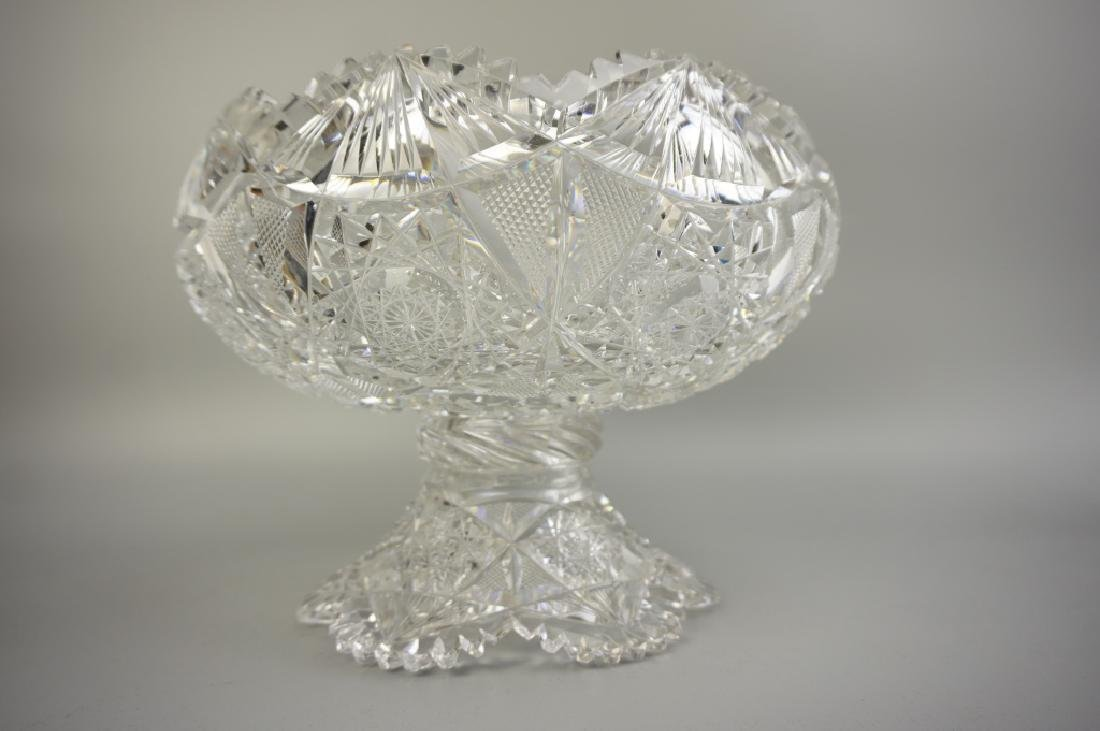 12pc CUT CRYSTAL PUNCH BOWL SET - 6