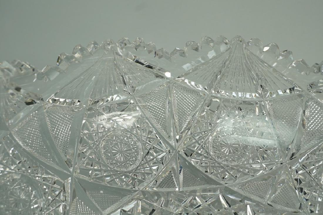12pc CUT CRYSTAL PUNCH BOWL SET - 7