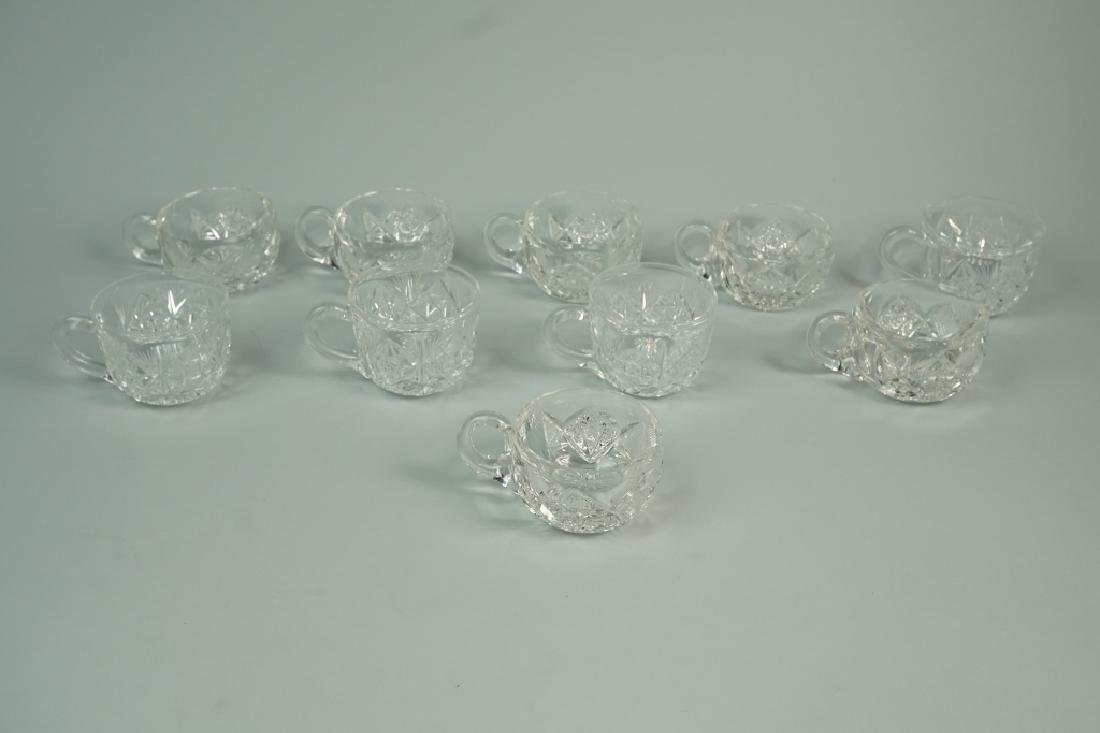 12pc CUT CRYSTAL PUNCH BOWL SET - 8