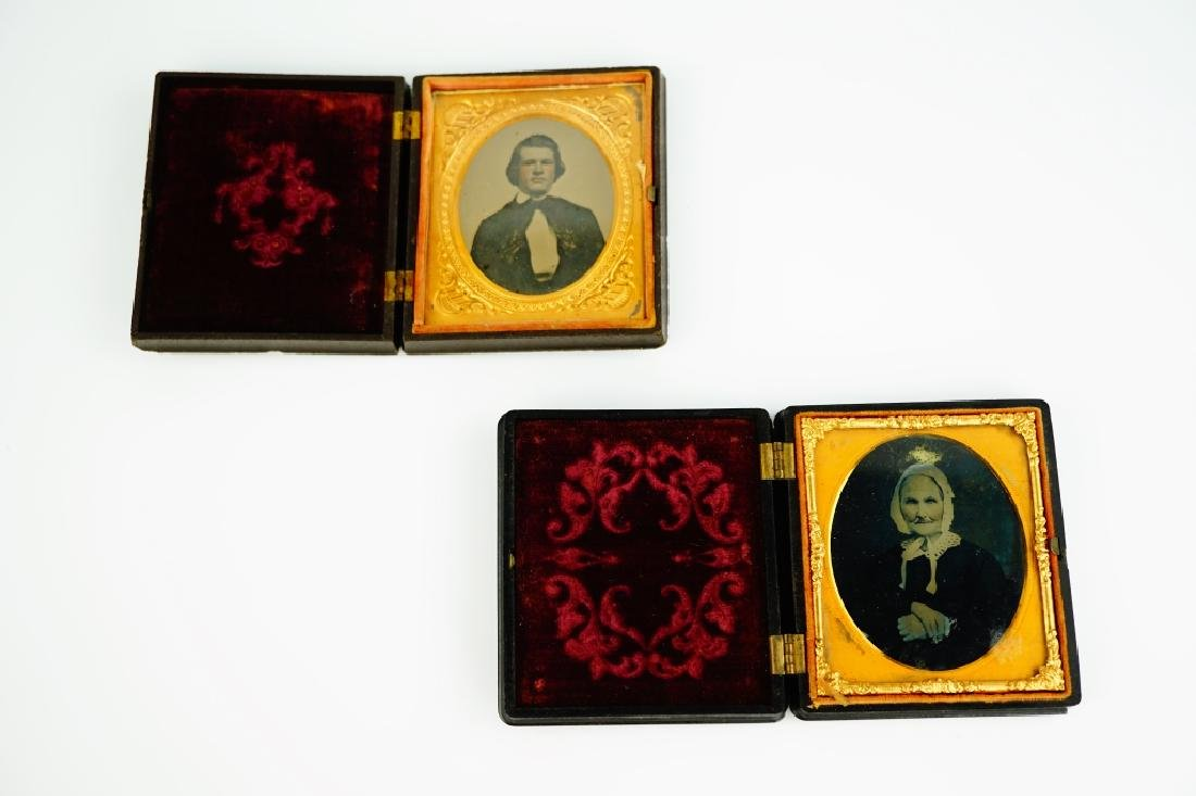 (2) ANTIQUE PHOTOS IN UNION CASES