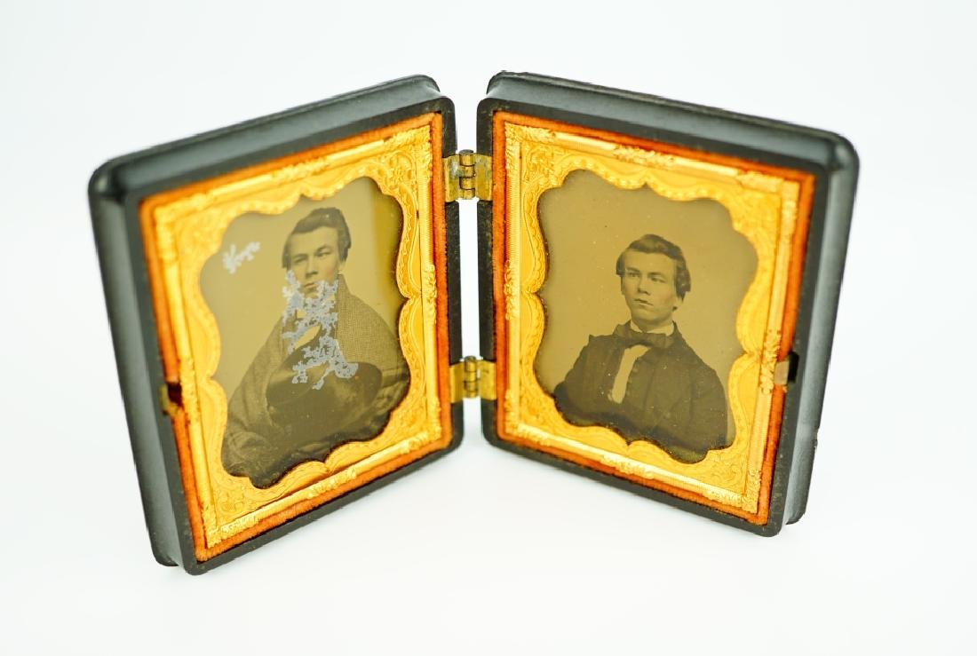 PAIR OF AMBROTYPES IN UNION CASES