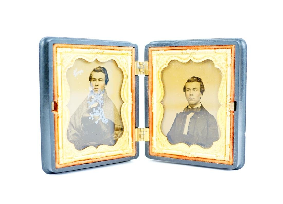 PAIR OF AMBROTYPES IN UNION CASES - 2