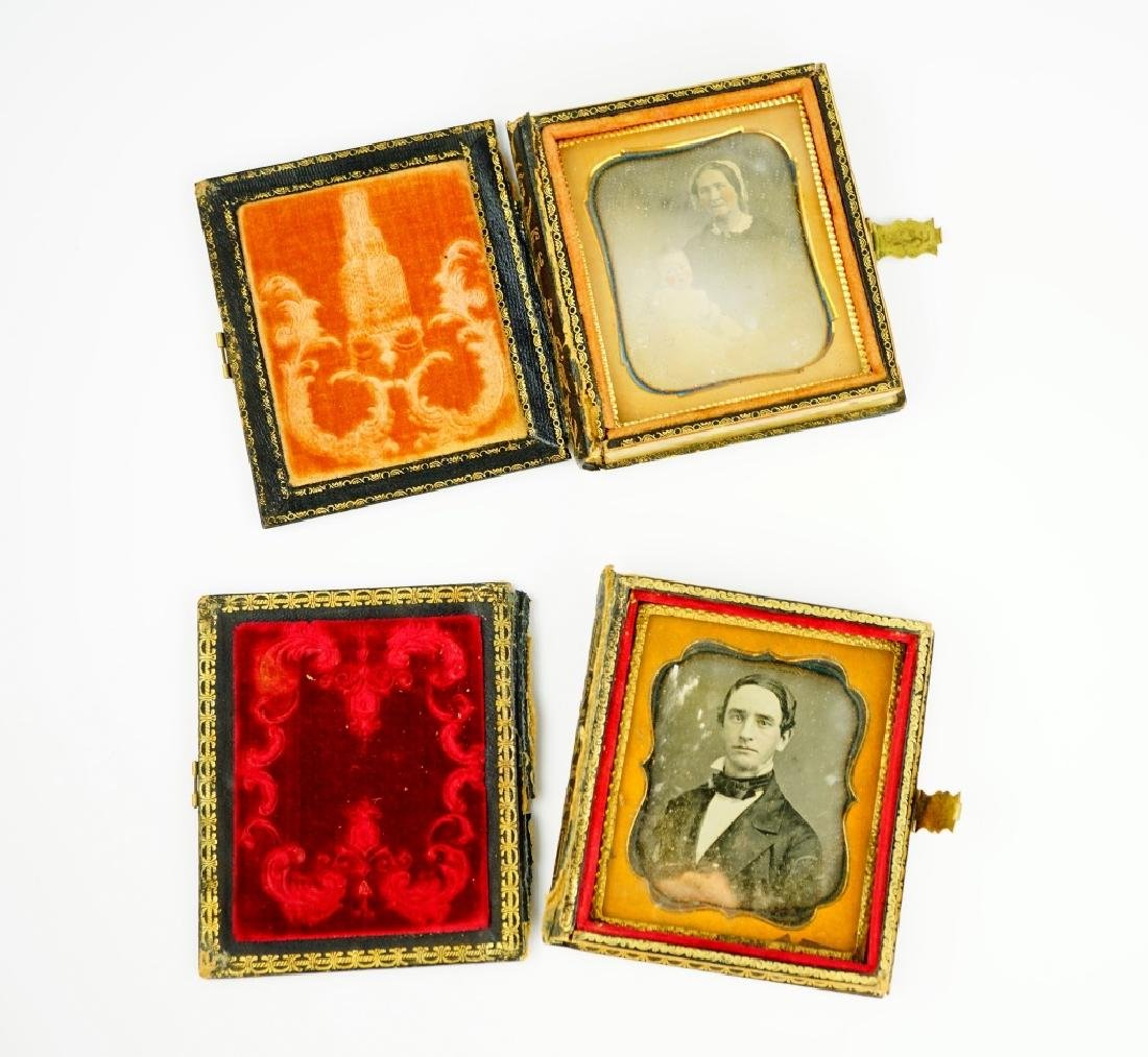 (2) ANTIQUE DAGUERREOTYPES IN LEATHER CASES