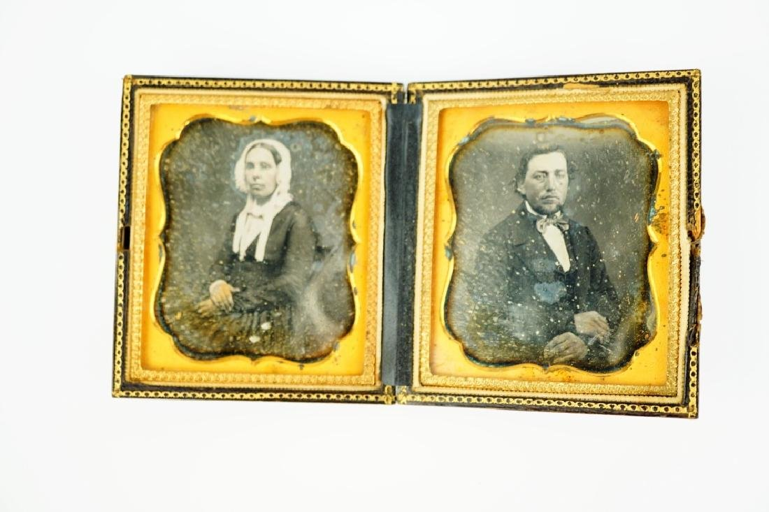 ANTIQUE DAGUERREOTYPE CASE WITH (2) PHOTOS - 2