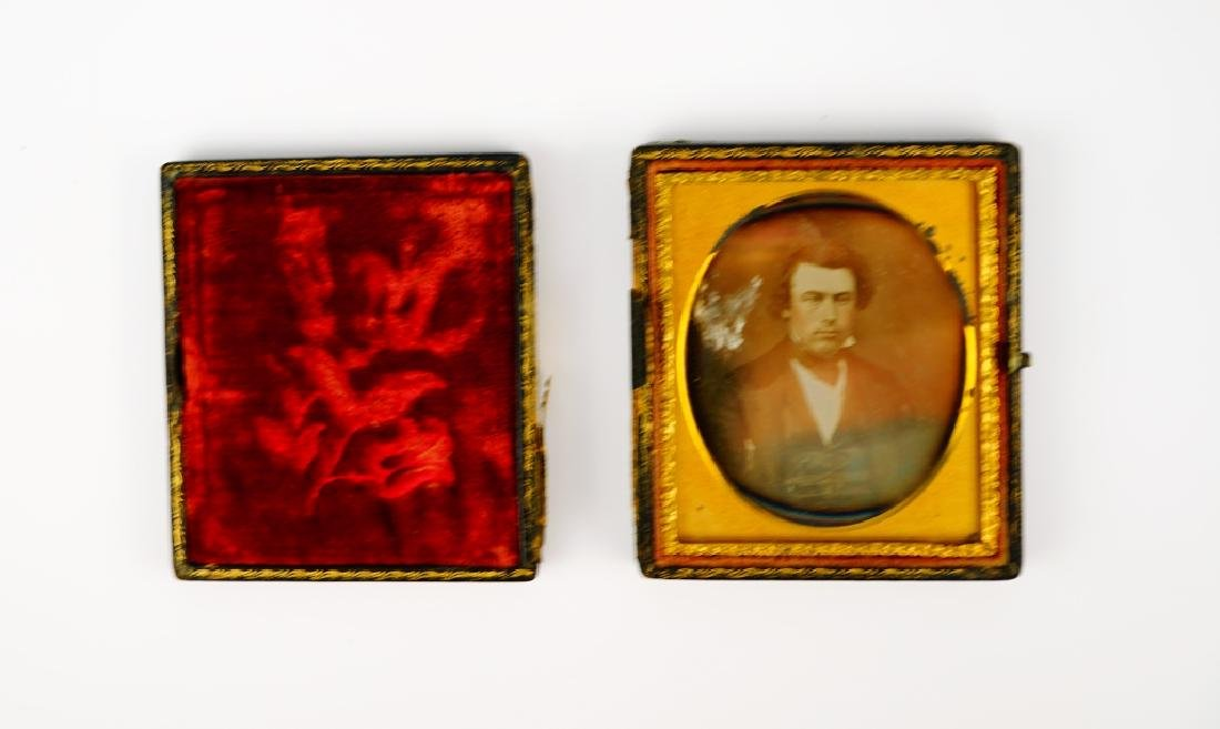 (2) ANTIQUE DAGUERREOTYPES IN LEATHER CASES - 6