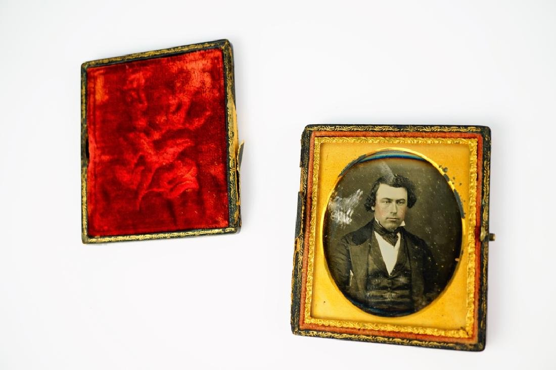 (2) ANTIQUE DAGUERREOTYPES IN LEATHER CASES - 7
