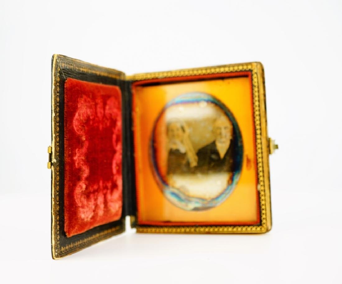 (2) ANTIQUE DAGUERREOTYPES IN LEATHER CASES - 9