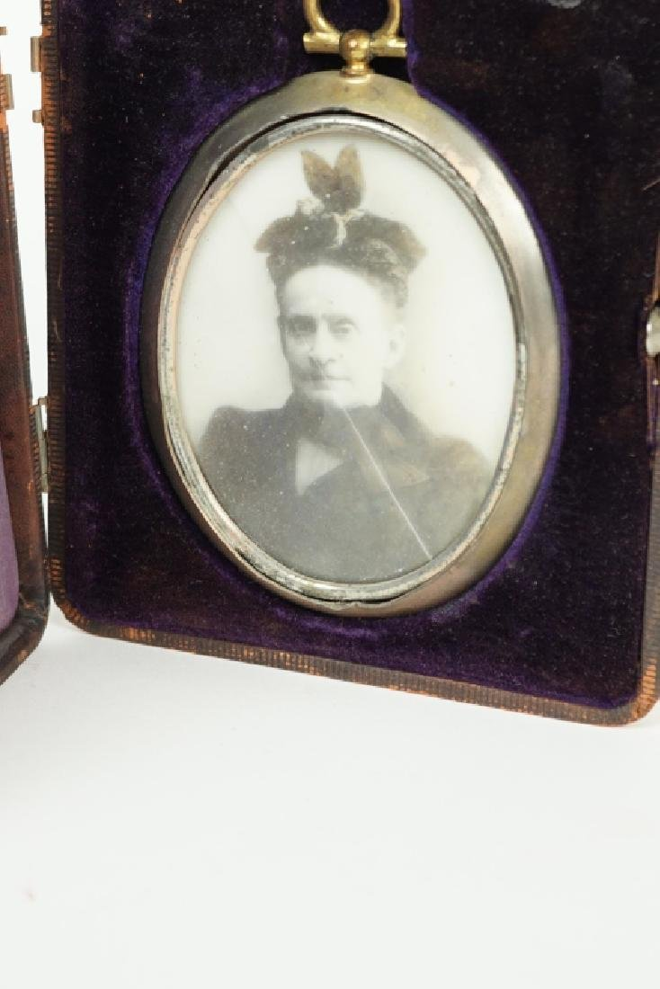 ANTIQUE PHOTOGRAPH ON PORCELAIN - 2