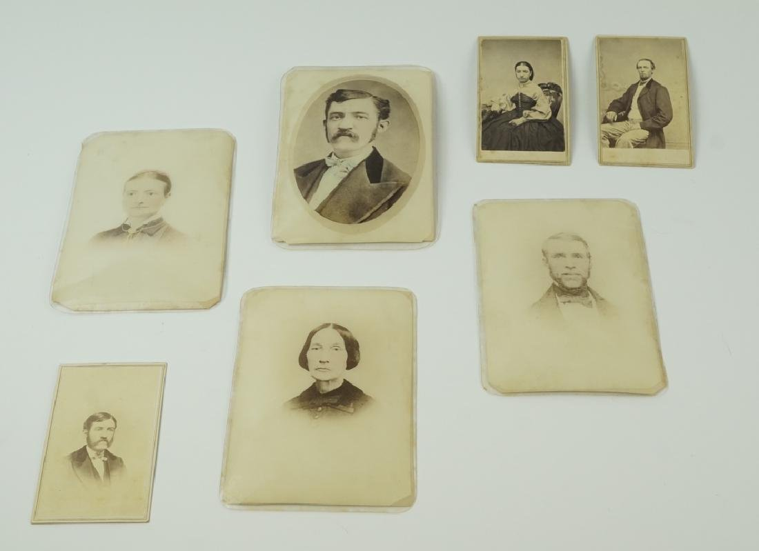 (7) ASSORTED ANTIUQE CDV & CABINET CARDS