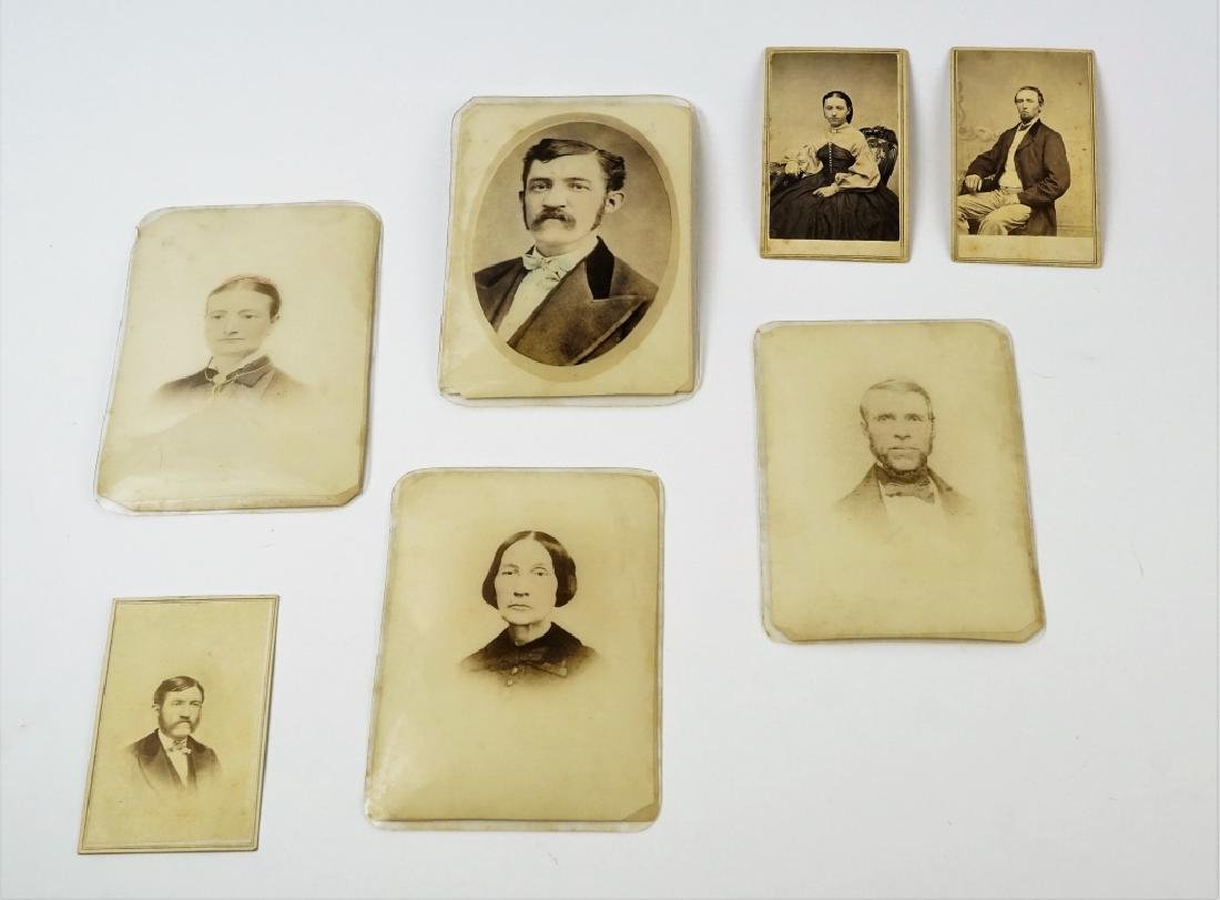 (7) ASSORTED ANTIUQE CDV & CABINET CARDS - 2