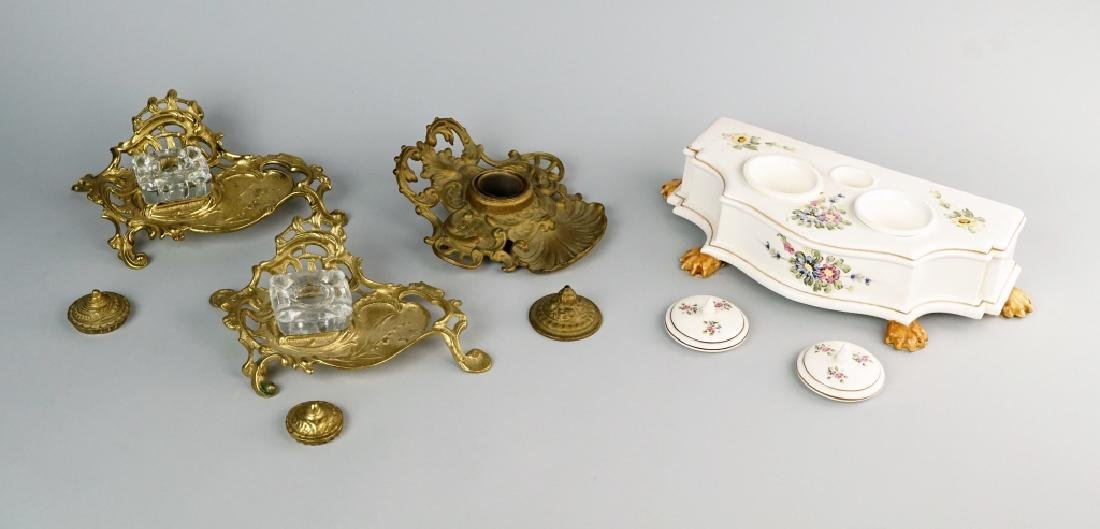 (4) INKWELL SETS - 2