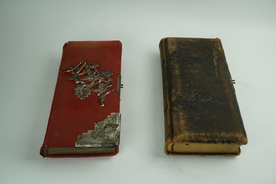 (2) ANTIQUE PHOTO ALBUM BOOKS