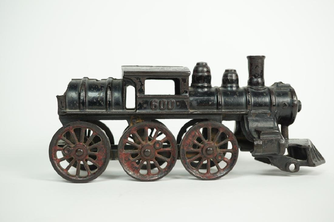 ANTIQUE CAST IRON LOCOMOTIVE