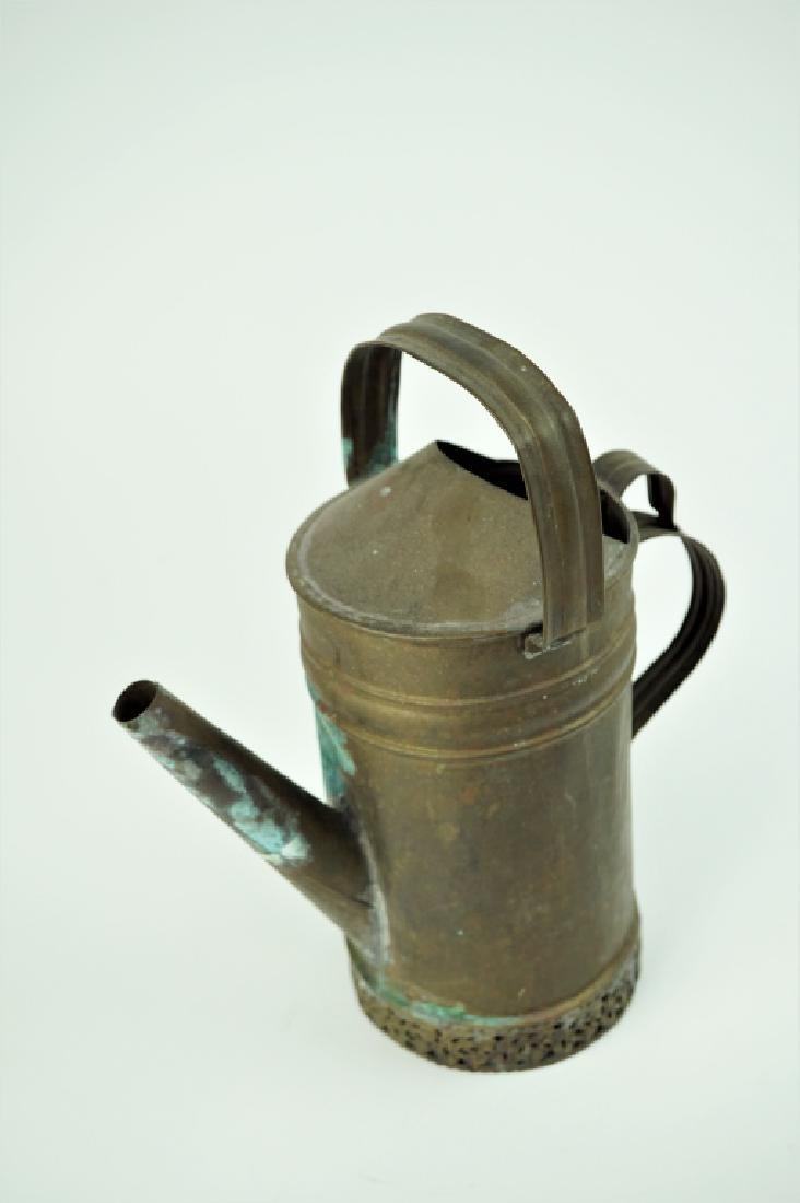 VINTAGE BRASS OIL PITCHER - 5