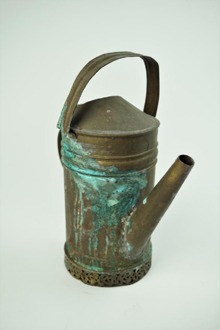 VINTAGE BRASS OIL PITCHER - 7