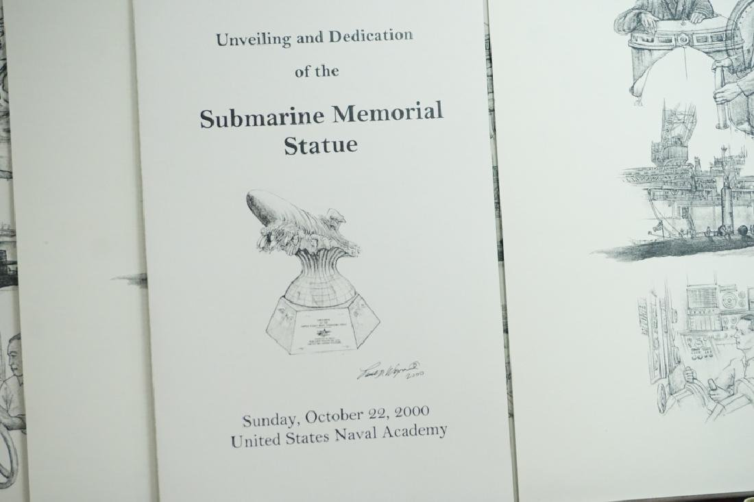 (4) US NAVAL ACADEMY SUBMARINE MEMORIAL PRINTS - 3