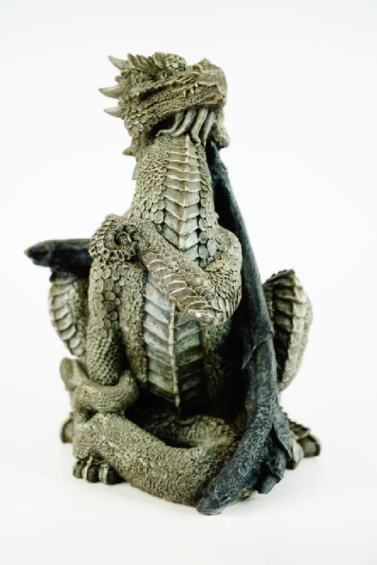 UNITED DESIGN GREYSTONE DRAGON SCULPTURE - 8